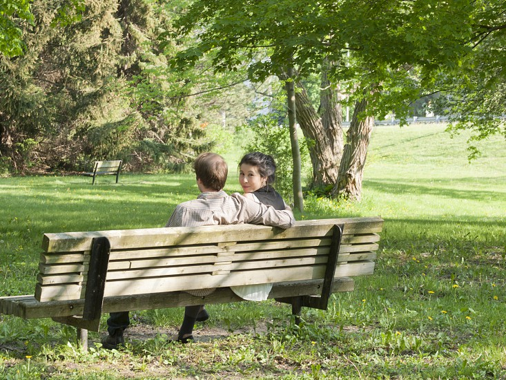 Park Bench Couple photo