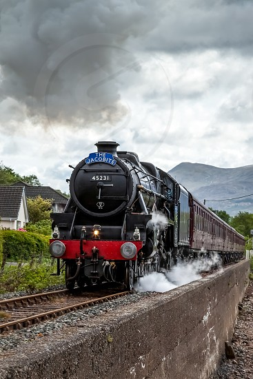 The Jacobite Steaming through Corpach photo