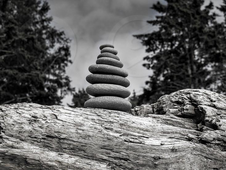 Cairn zen rocks balance nature photo