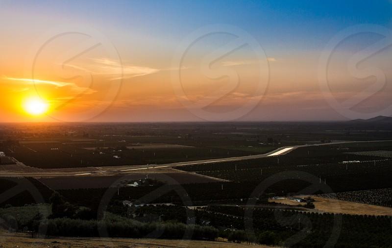 Farmland Sunset photo