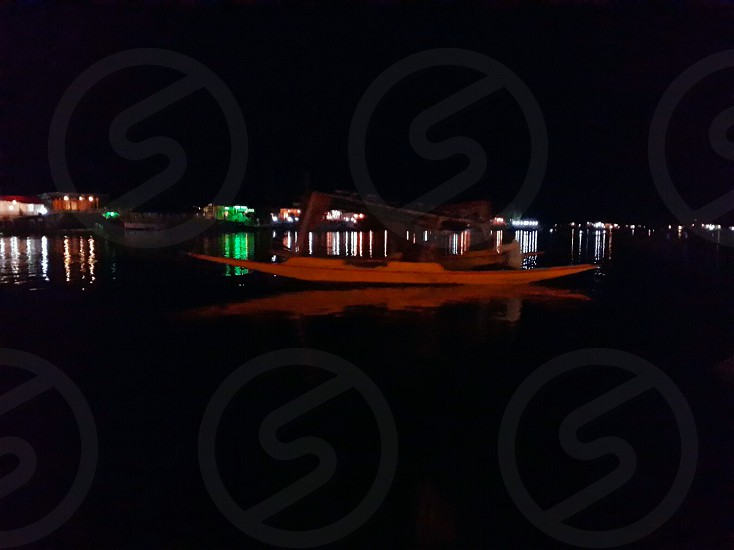 Shikara Ride In Night Dal Lake Srinagar photo