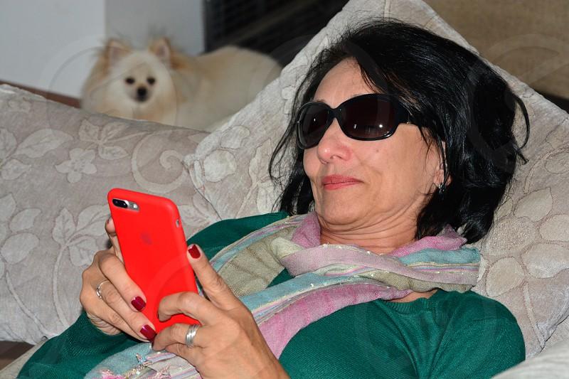 Checking the mobile São Paulo SP Brazil photo