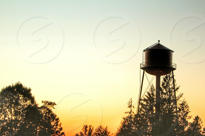 Red Sky water tower Troutdale OR photo