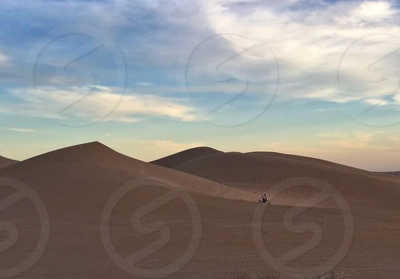 Off-road motorcycle Imperial Dunes California desert photo