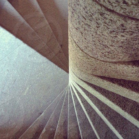 gray spiral staircase photo