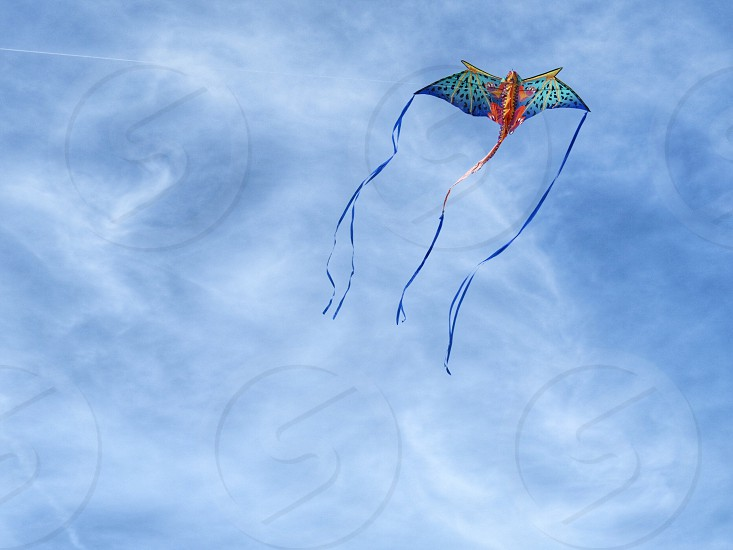 Kite Sky clouds March spring flying minimalism  photo