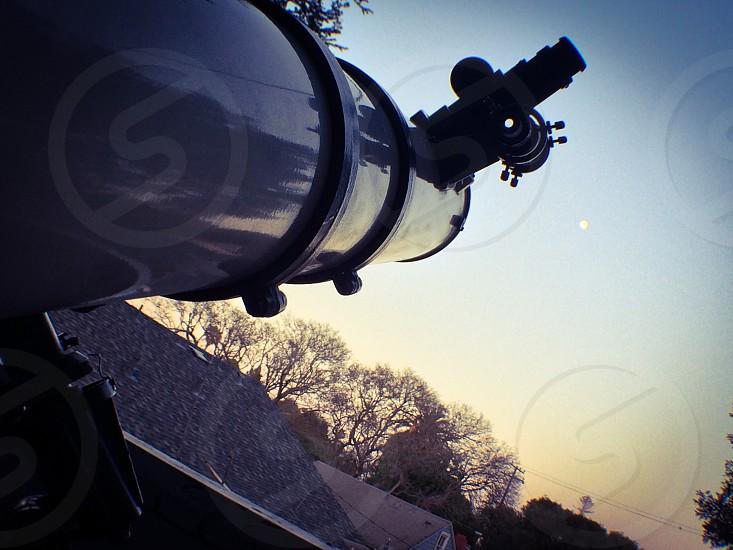 white telescope  photo