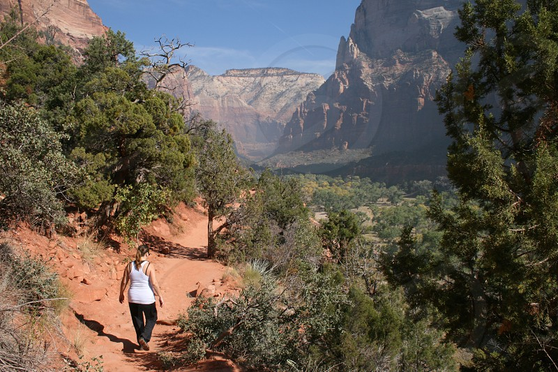 Hiking Zion National Park Utah photo