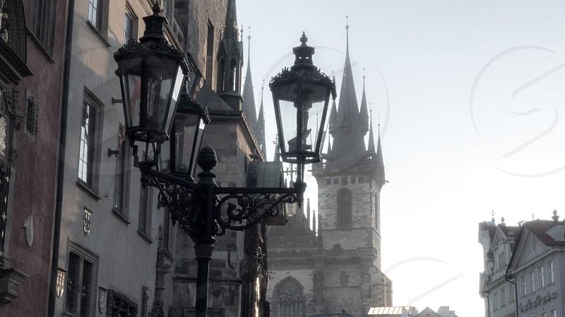 black street lights at daytime photo