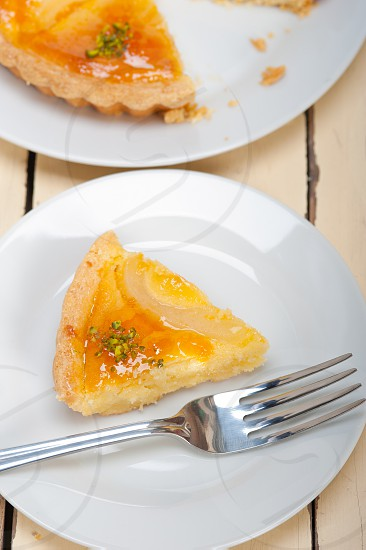 fresh home baked pears pie dessert cake tart  photo