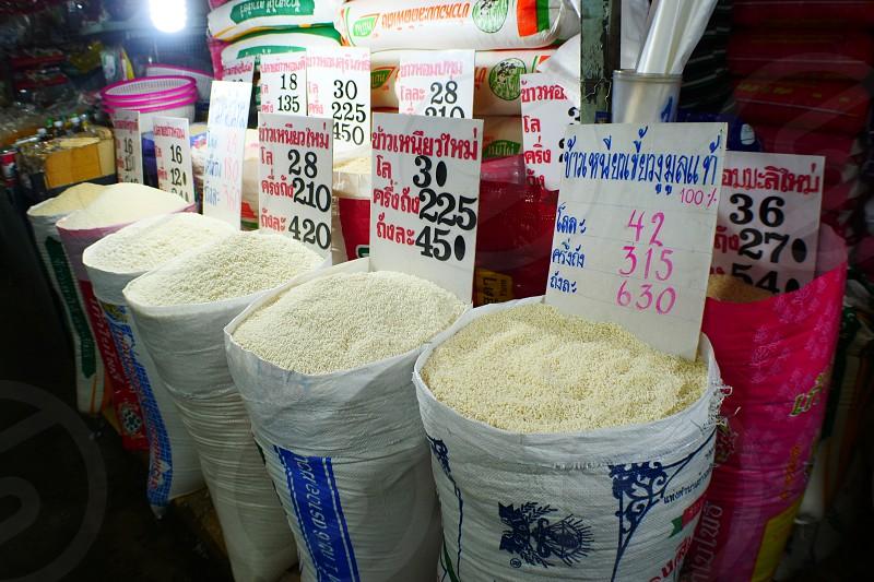 Night market and Street Food and drinks Bangkok Thai photo