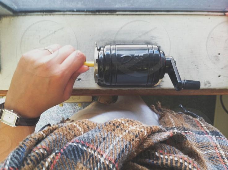 black pencil sharpener photo
