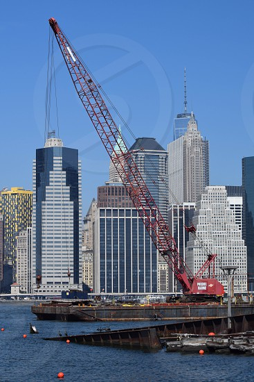 New York City Downtown Hudson river construction One World Trade photo