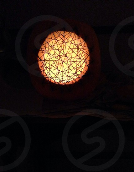 orange light fixture photo
