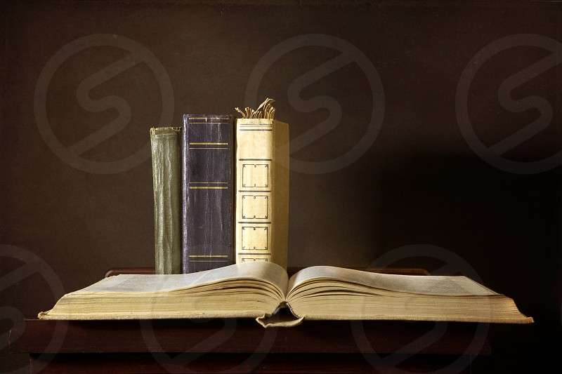 Still life with old books photo
