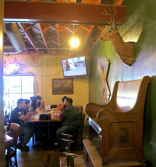 A rustic bar-b-que joint in AustinTexas photo
