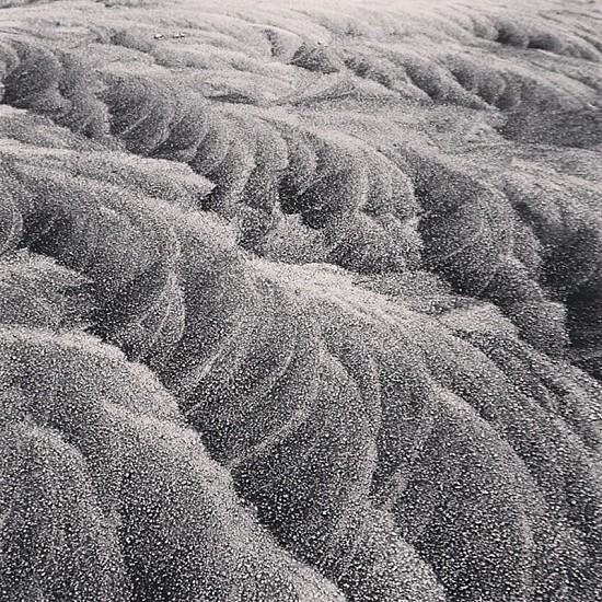 Ice & Frost pattern on Car roof. photo