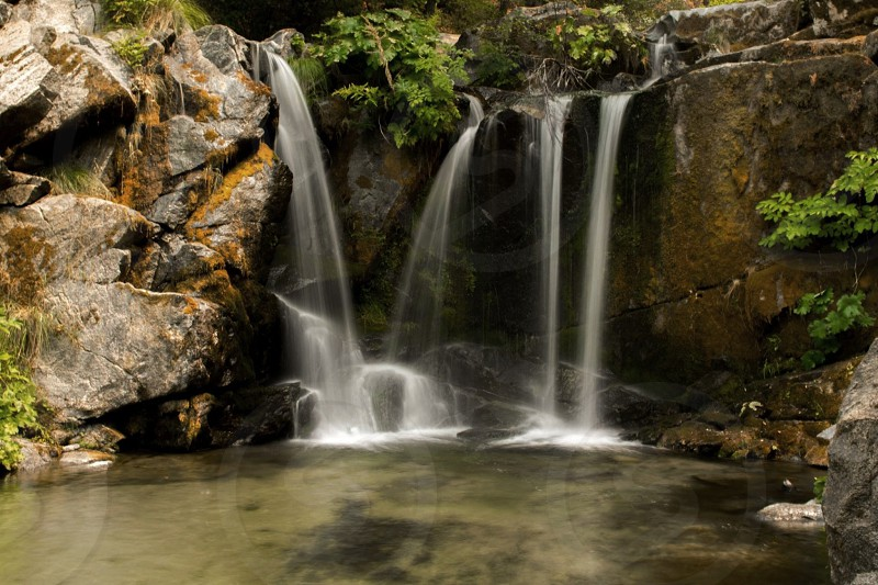 Slow shutter of Crystal Creek Falls in Northern California  photo