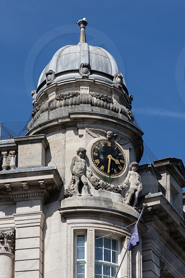 BRISTOL UK - MAY 14 : Impressive clock above the jetty restaurant in Bristol on May 14 2019 photo