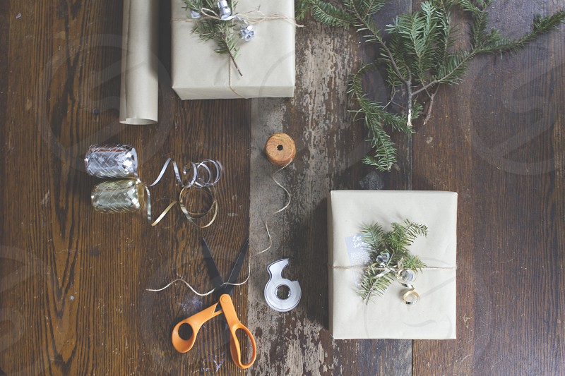 Simple gift-wrapping.  photo