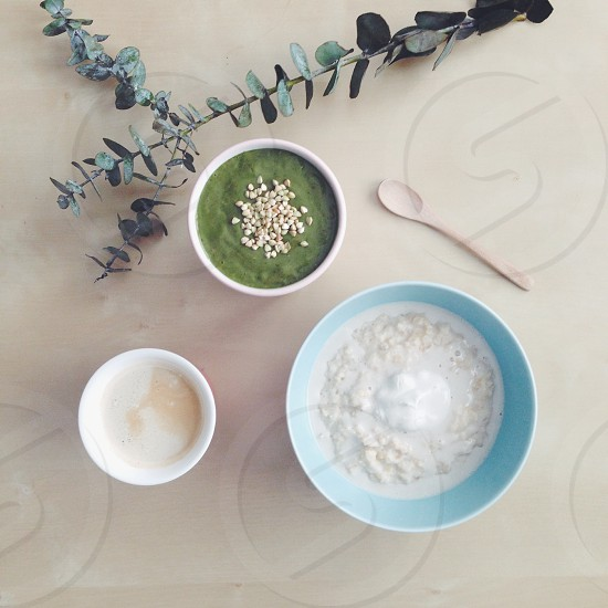 Healthy breakfast spread photo