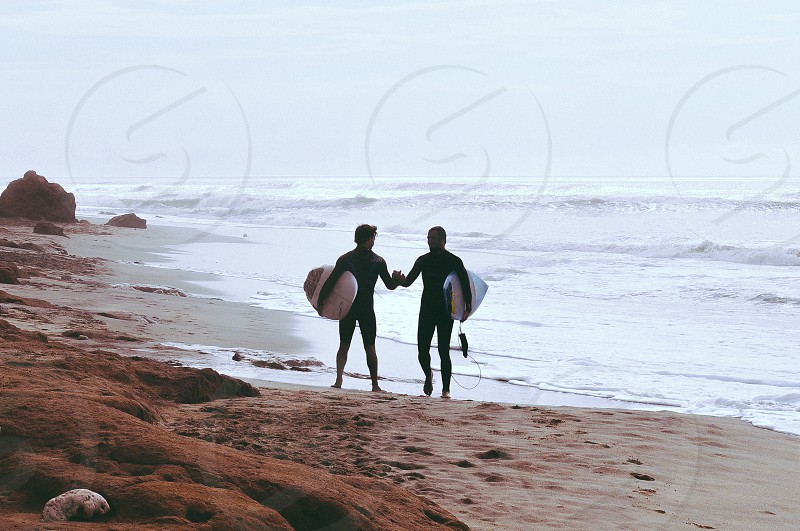 A trip with some friends to meet the waves south of the city of Mar del Plata Argentina. San Eduardo del Mar. photo