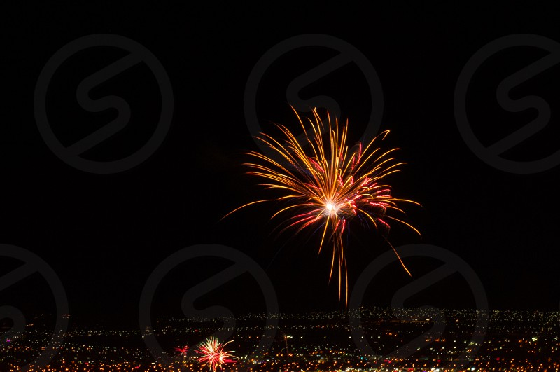 Vegas July 4th 2014 skyline fireworks photo
