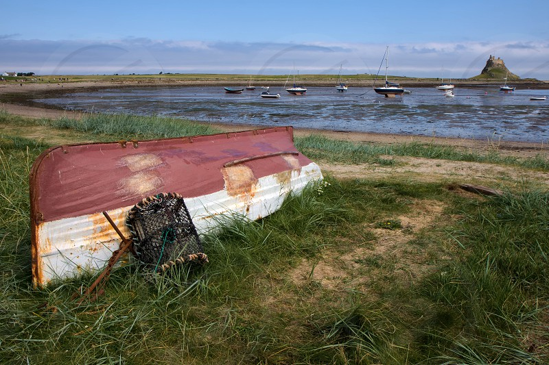 Upturned Rowing Boat on Holy Island photo