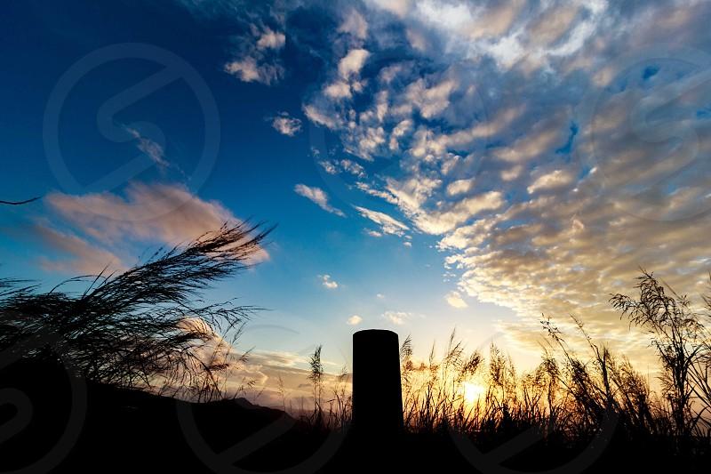 Sunset silhouette sky cloud sun sunlight photo