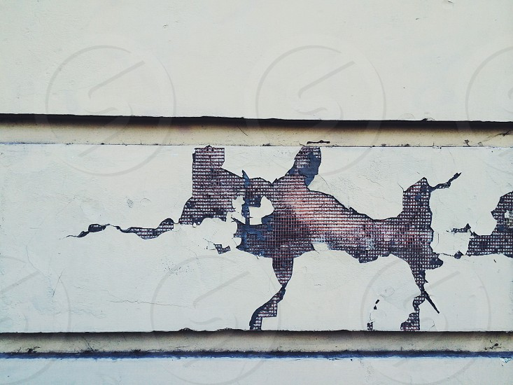 Chipped wall in Budapest  photo