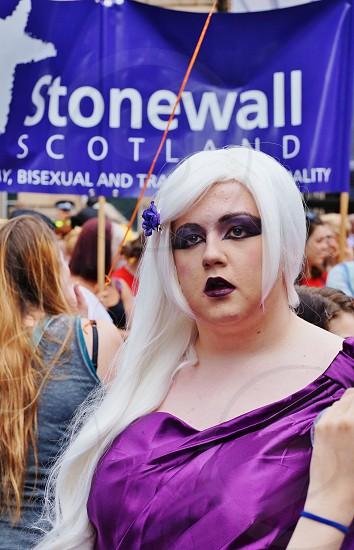 LGBTQ rainbow pride parade in Edinburgh Scotland photo