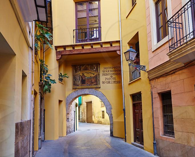 Valencia Portal de Valldigna arch in barrio del Carmen at Spain photo