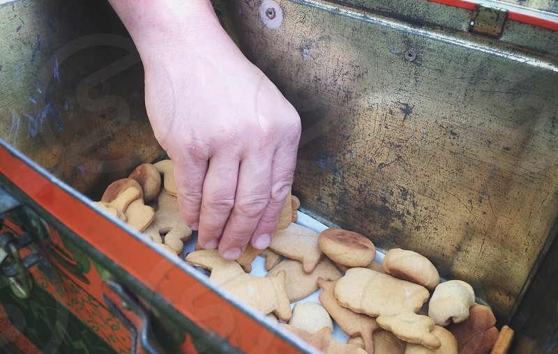 Hand in cookie jar photo