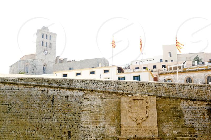 Castle of Ibiza entrance door to dalt Vila in Balearic Islands Spain photo
