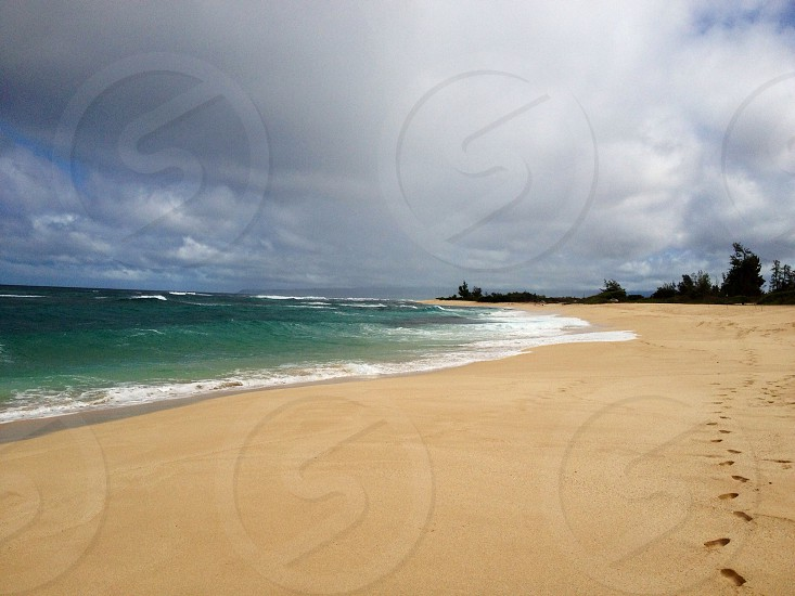 body of water waves at beach photo