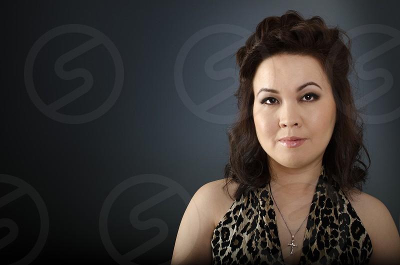 Young asian woman portrait photo