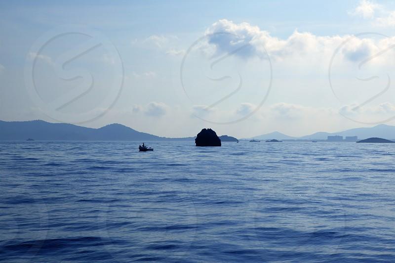 Ibiza island seascapes in Spain. Mediterranean sea photo