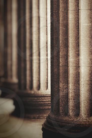 Greek columns ancient stone photo