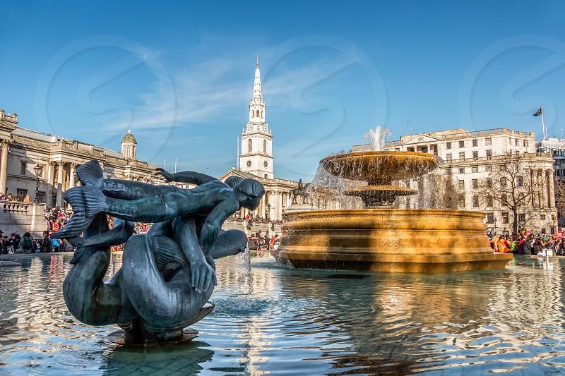 Fountain in Trafalgar Square photo