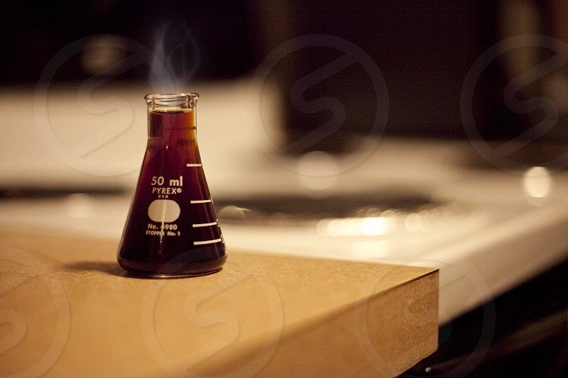 erlenmeyer flask reading at 50ml photo