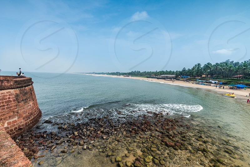 Sinquerium beach at Goa is one of the beautiful and clean beach  photo