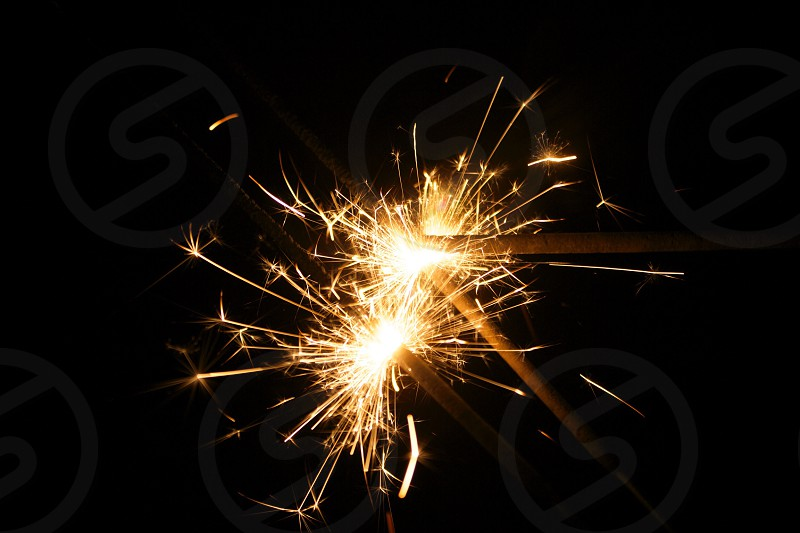 Sparklers bonfire night 2014 photo