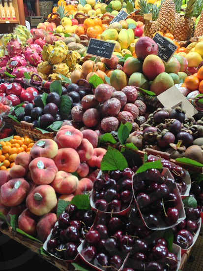 French fruit stand photo