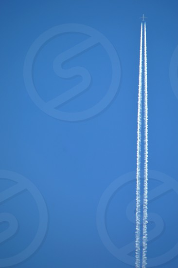 Straight Up plane sky blue white photo