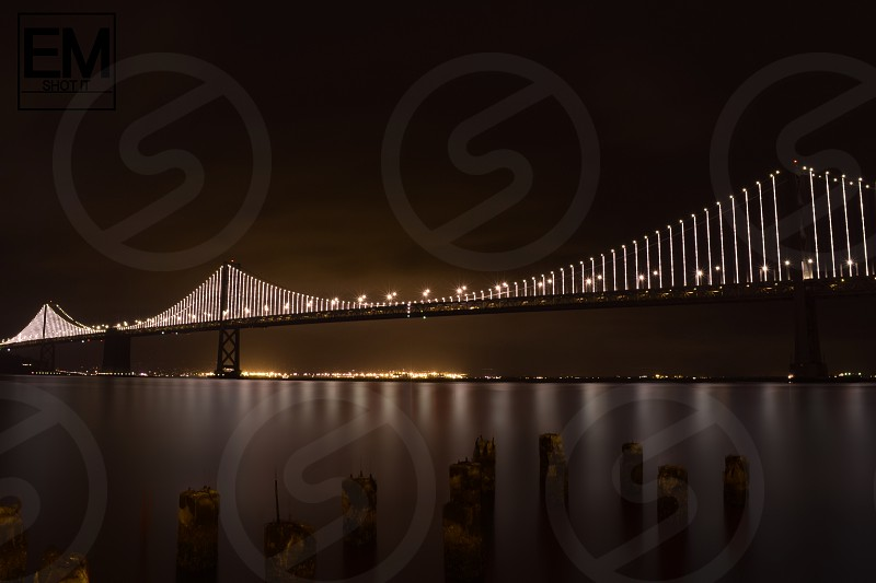 Bay st Bridge SAN Francisco lights photo