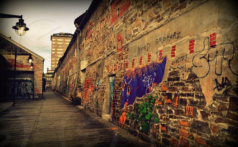 street graffiti in quebec city photo