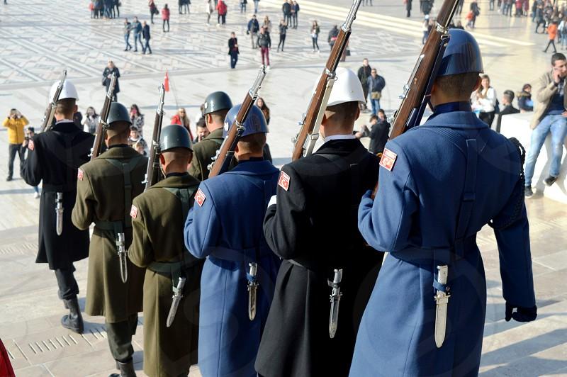 TURKEY. change of guard of honor..  photo