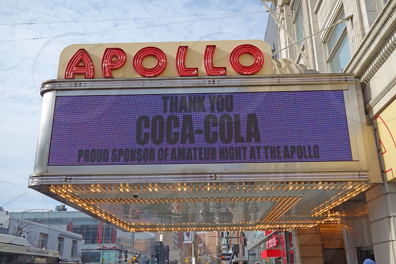 The Apollo Theater cinema in New York City photo