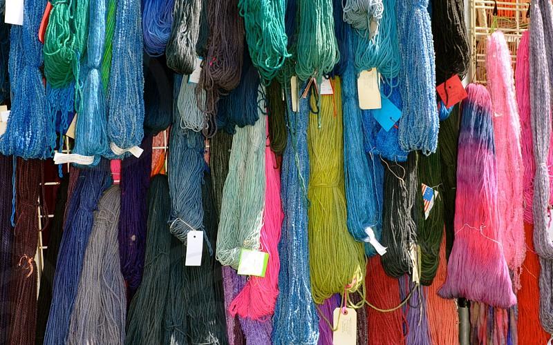 Hand-dyed yarn photo