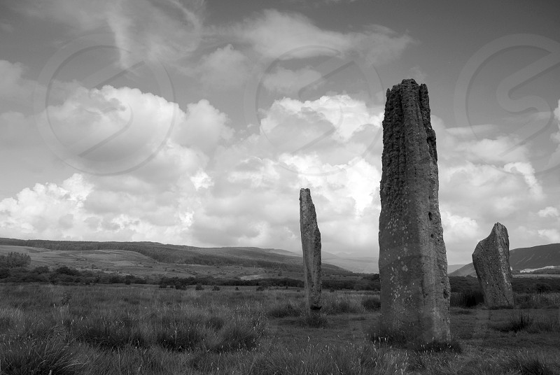 Machrie Moor Stone Circle The Isle of Arran. photo
